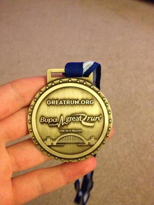Bupa Great North Run медаль